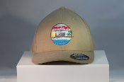 HFSD Embroidered Logo FLEXFIT Hat Tan