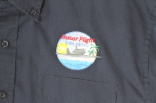 Port Authority® Long Sleeve Twill Shirt with Embroidered Honor Flight San Diego Logo.